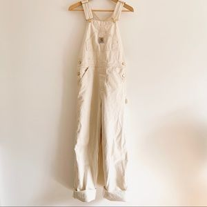 Carhartt Workwear Painters Off White Overalls